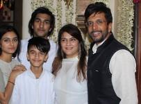 Javed Jaffrey with his wife Habiba Jaffrey