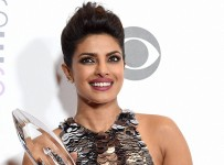 LOS ANGELES: Priyanka Chopra poses in the press room with the award for favorite actress in a new TV series at the People's Choice Awards at the Microsoft Theater on Wednesday, Jan. 6, 2016, in Los Angeles. AP/PTI(AP1_7_2016_000058B)